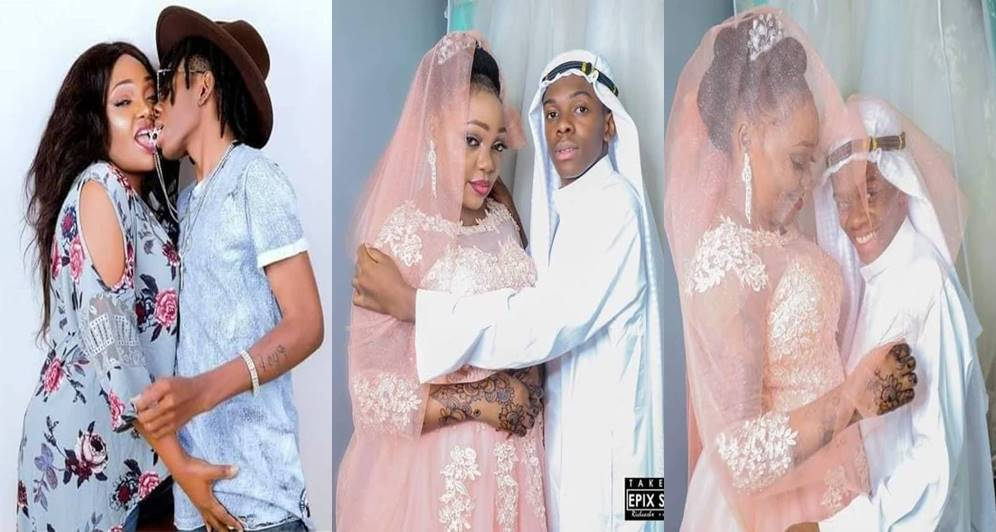 19-year-old boy marries a 39-year old woman in a  luxurious wedding (Photos)