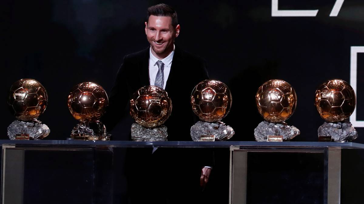 Messi win Ballon d'Or for the 6th time